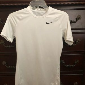 NIKE pro dry-fit  white shirt size Small youth
